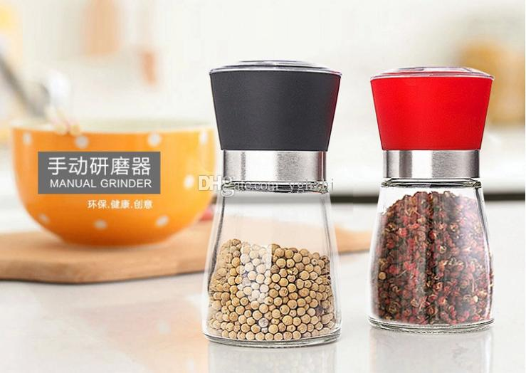 Produtos de cozinha criativa, manual moinho de pimenta, moinho de pimenta, garrafa de tempero, moinho de pimenta preta, / lote frete grátis