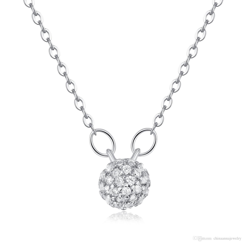 16mm Full Rhinestone Diamond Ball Charms Pendant Teething Girls ...