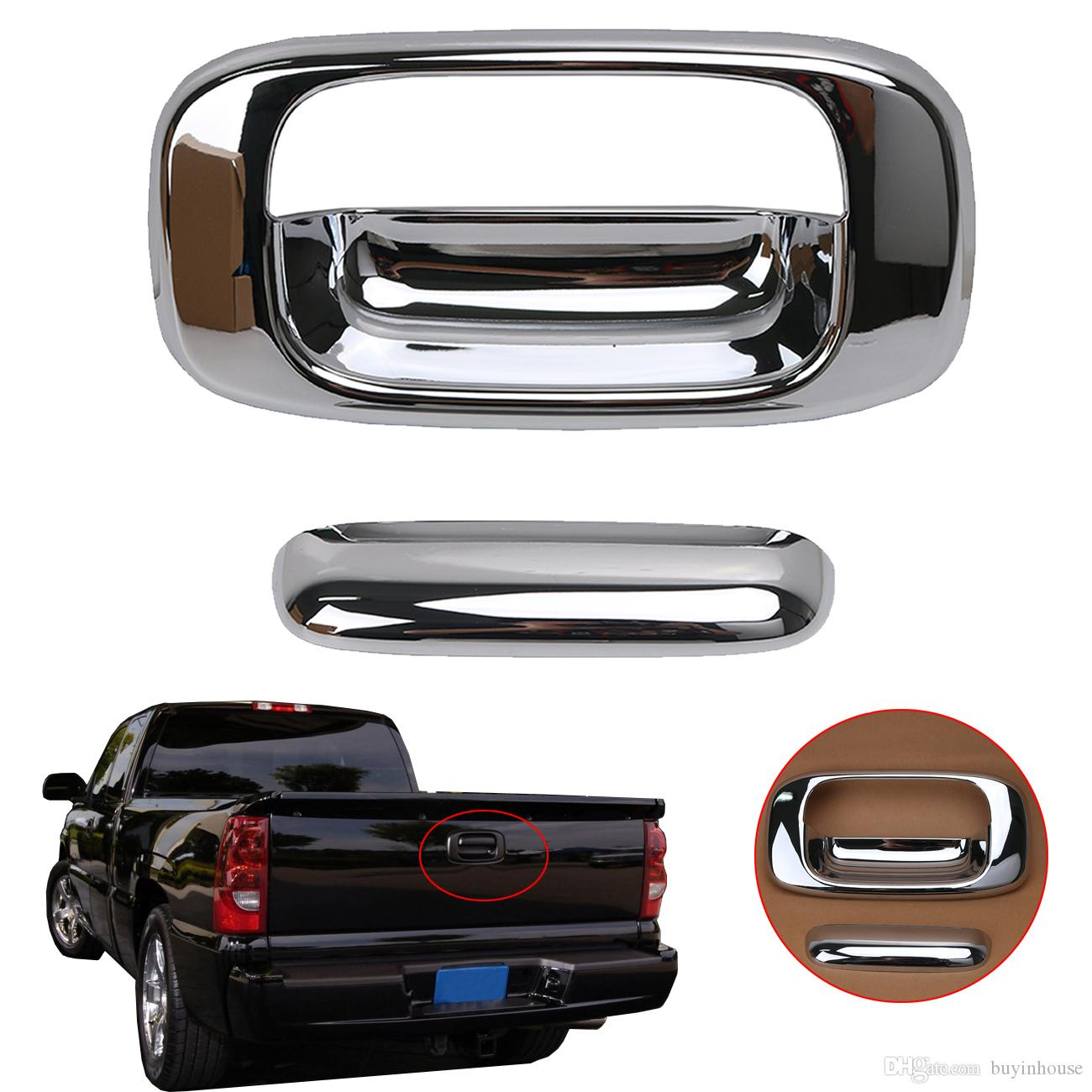 2018 Triple Chrome Abs Tailgate Door Handle Cover For Chevy Chevrolet Silverado/Gmc Sierra 1999 2006 #rc001 From Buyinhouse $15.13 | Dhgate.Com  sc 1 st  DHgate.com & 2018 Triple Chrome Abs Tailgate Door Handle Cover For Chevy ...