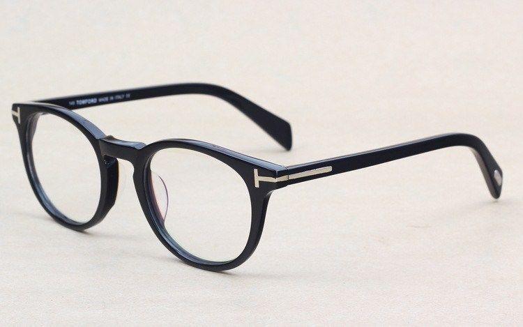 8690879198bb 2019 Classic Retro Clear Lens Optical Frames Glasses Brand Designer Men Women  Eyeglasses 6123 Vintage Plank Spectacle Myopia Eyewear Frame From Hlwy