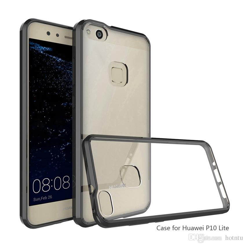 best sneakers ad3a7 a4b61 For Huawei P9 Lite Case Air Cushion Tech Soft TPU Bumper Clear Back Cover  Hybrid Armor Phone Cases For Huawei P10 Lite Plus