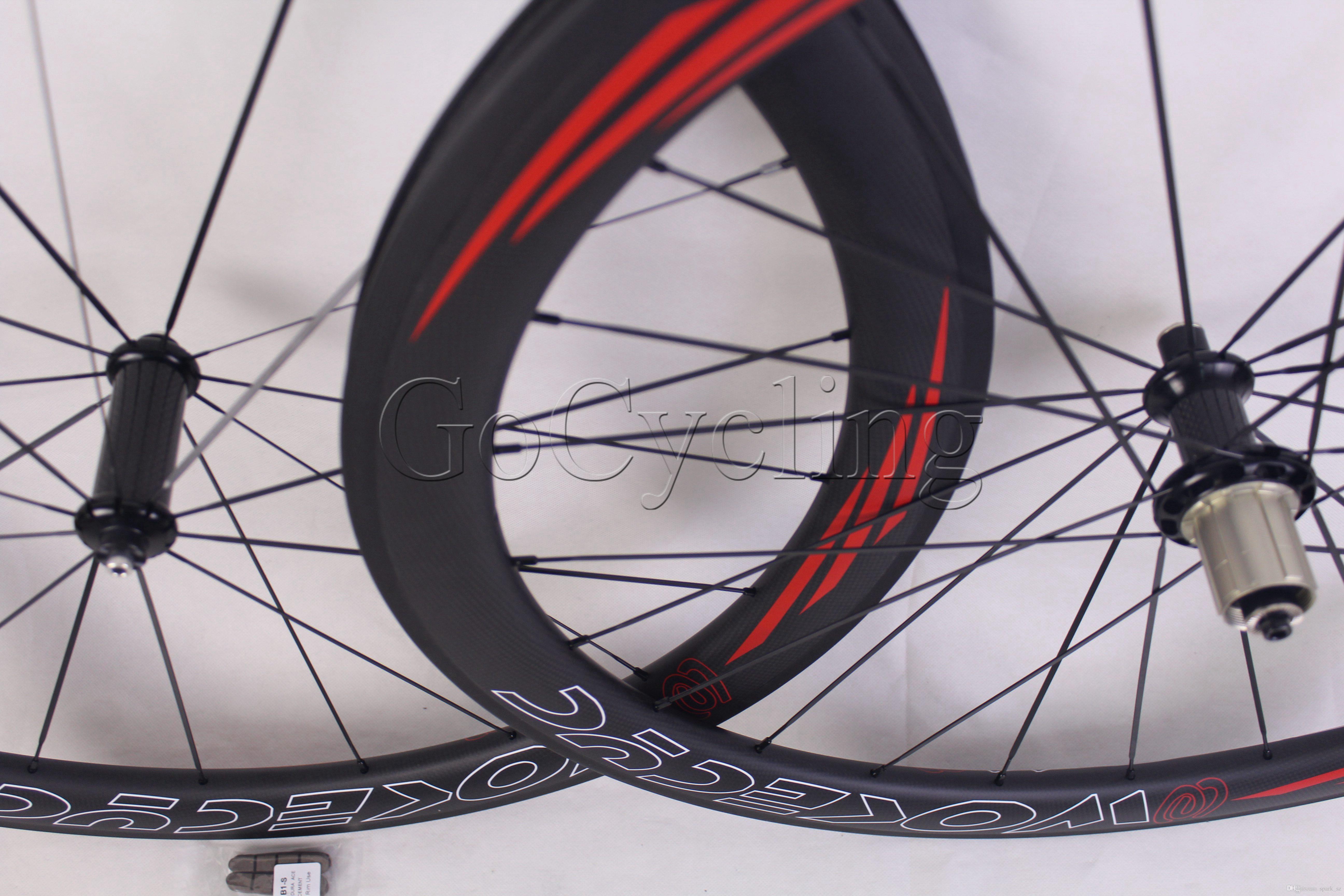 탄소 도로 자전거 바퀴 powerway R36 림 깊이 50mm clincher 관 모양 도로 사이클링 자전거 레이싱 wheelset 700C 현무암 브레이크 서핑