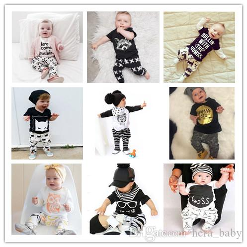097c9b300 20 Designs Ins Children Suits Kids T Shirts Pants Clothing Outfits ...