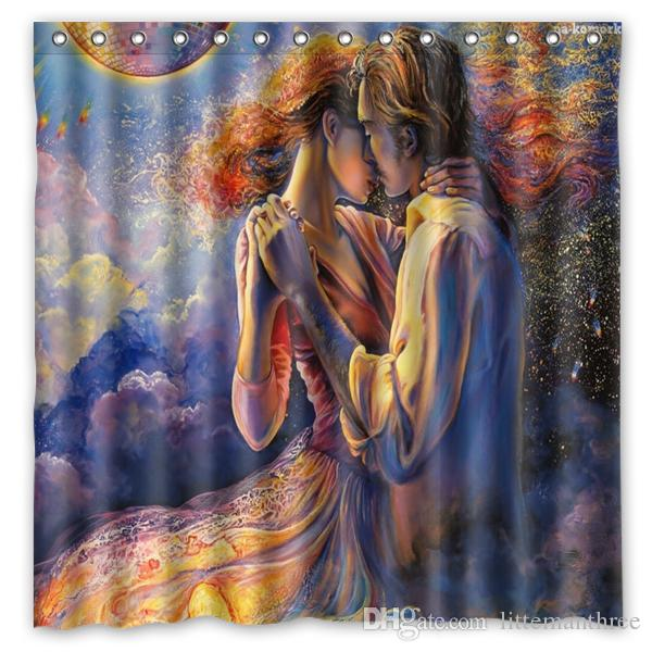 2019 Most Amazing And Beautiful Oil Paintings Design Shower Curtain Size 180 X Cm Custom Waterproof Polyester Fabric Bath Curtains From