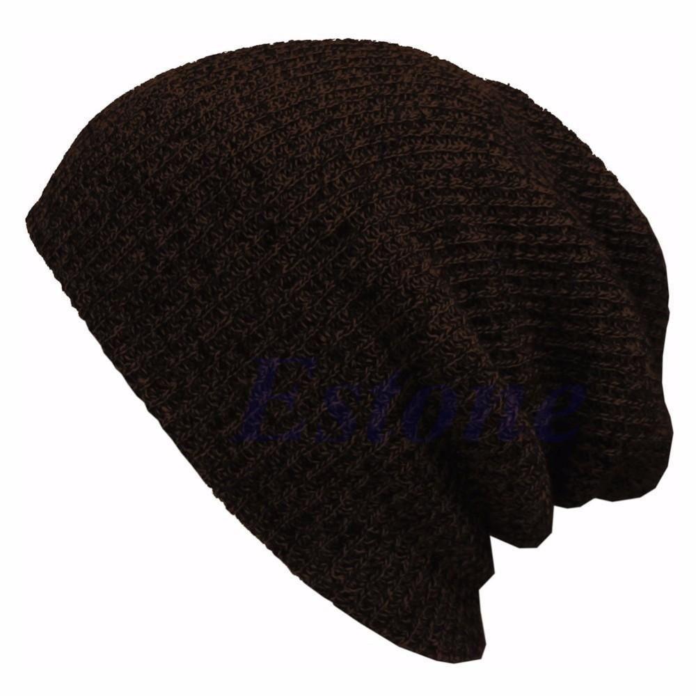 Winter Casual Cotton Knit Hats For Women Men Baggy Beanie Hat Crochet Slouchy Oversized Ski Cap Warm
