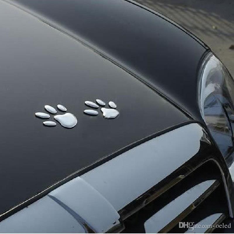 3d Hund Pfote Auto Fenster Aufkleber Aufkleber Auto Aufkleber Mit Weichen Pvc Silber Coole Billige Auto Aufkleber