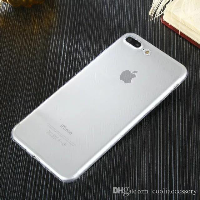 Soft TPU Case Ultra thin For Iphone 8 7 Plus Iphone7 I7 7TH 7plus Clear Transparent Ultrathin Silicone Rubber Skin Celular Cover Cell phone