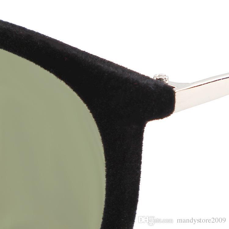 New Women Sunglasse 2015 Progettista di Marca Anti-UV Occhiali Peluche Floccaggio Telaio Occhiali Da Sole Occhiali Da Donna YC2059 Spedizione Gratuita