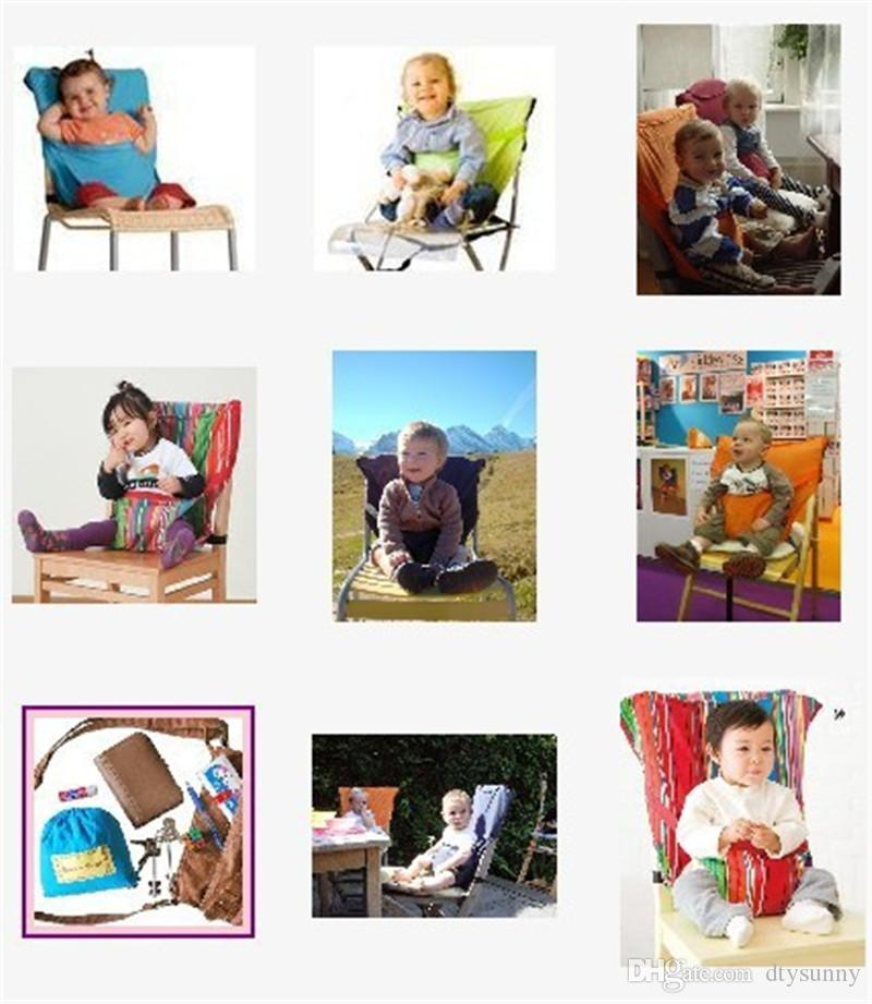 Baby Sack Seats Portable High Chair Shoulder Strap Infant Safety Seat Belt Toddler Feeding Seat Cover Harness Dining Chair Seat Belt