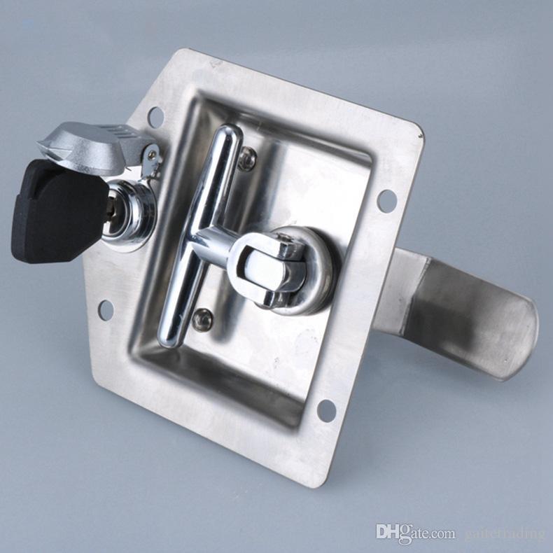 serratura del camion dell'acciaio inossidabile Hardware della porta Serratura elettrica della serratura della cassetta degli attrezzi della scatola del fuoco Maniglia della maniglia di tiro della porta dell'attrezzatura industriale
