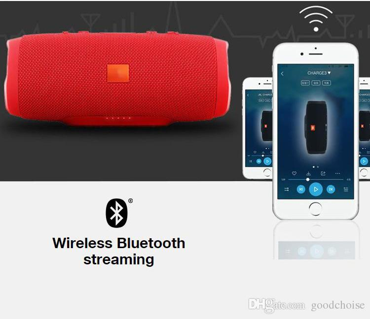 Портативный беспроводной динамик Bluetooth Громкоговоритель Звуковая система стерео Музыка объемного звучания Водонепроницаемый Открытый динамик поддержка TF карта