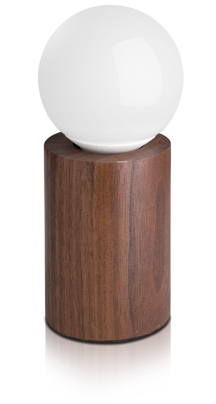 Candeeiros de mesa de nogueira preta pequena circular de madeira personalidade criativa retro nostalgia lâmpada de mesa luzes E27 lâmpada LED