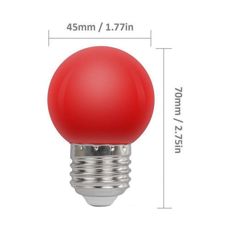 Edison2011 E27 LED Light Bulb 1W Coloured Light G45 Round LED Christmas Bulbs Decorative Light Bulb