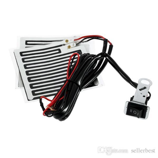 12V Universal Motor Hand heater Motorcycle Heated Grip Kit Pads Handlebar Heater Warm