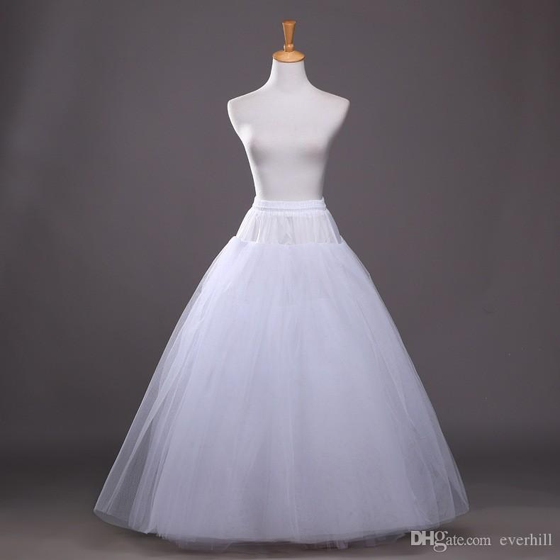 Petticoats Jupon Mariage Hot Sale White Tulle Tulle Dress Long Underskirt Cheap Petticoat Stock Enaguas Para El Vestido De Boda Wedding Accessories