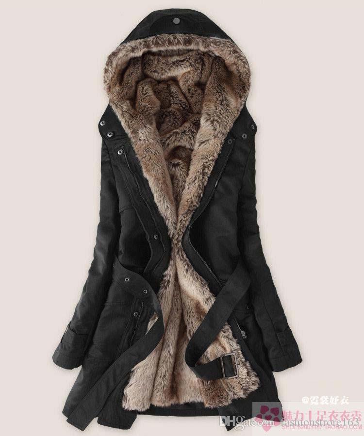 İnanılmaz Taklit Kürk Astar kadın Bej Kürk Palto Kış Sıcak Uzun Ceket Damla Nakliye