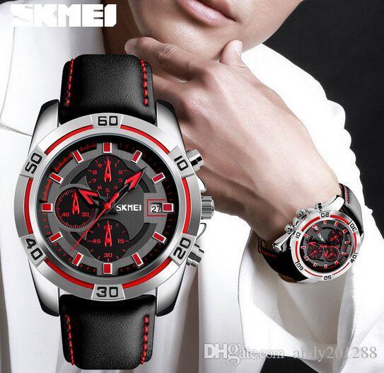 b7e91cdabb4 Compre Skmei Urban Style Vogue Fashion Lagre Dial 6 Manos Multifunción  Hombres 1 10 Cronómetro Relojes 9156 A  14.21 Del Andy201288