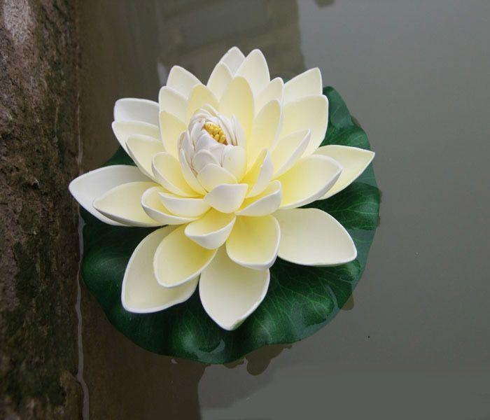 العائمة الاصطناعي زهور اللوتس حديقة حوض السمك العائمة لوتس لوتس بركة Happytime زنابق الماء الاصطناعي