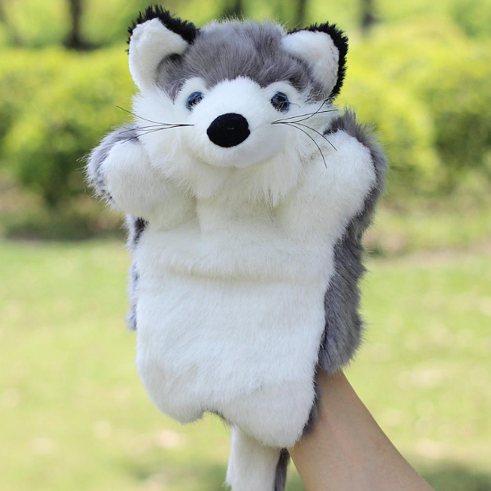 Foxs animal fantoche de mão boneca de pelúcia brinquedos cedo educacional bonecas kawaii história contando raposa fantoche de mão do bebê crianças boneca de pelúcia brinquedos