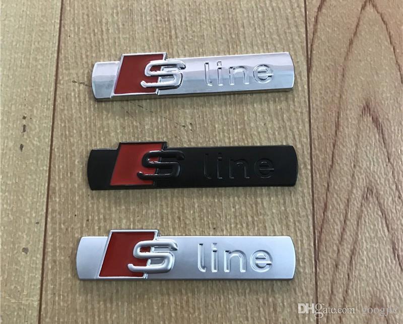 3D S Linha Sline Grelha Dianteira Do Carro Emblema Emblema de Liga de Metal Adesivos Acessórios Styling Para Audi A1 A3 A4 B6 B5 B5 B7 A5 A6 C5 C6 A7 TT