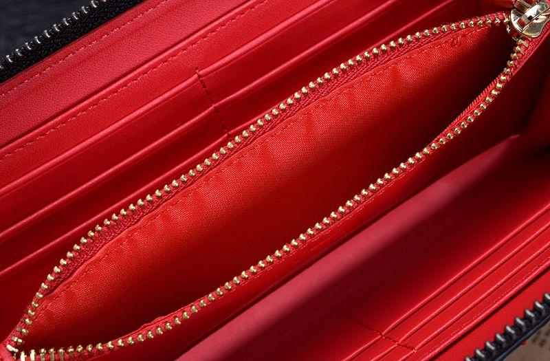 Neue Ankunft 100% Top-Qualität Ziegenleder echtes Leder Frauen Liebe Brieftaschen Nagel, Mode MM Liebe Tasche versandkostenfrei
