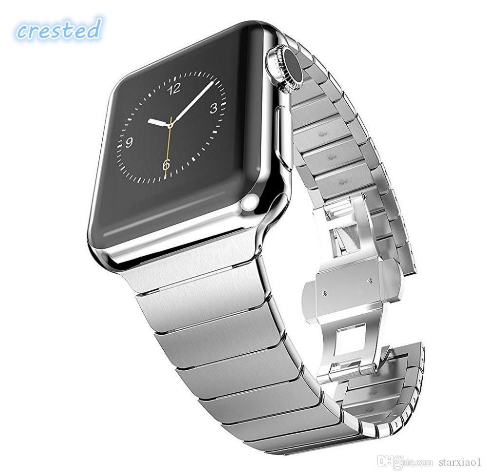 luxury band for apple watch link bracelet 38mm 42mm 40/44mm 316L stainless steel watchband for apple iwatch series 4/3/2/1