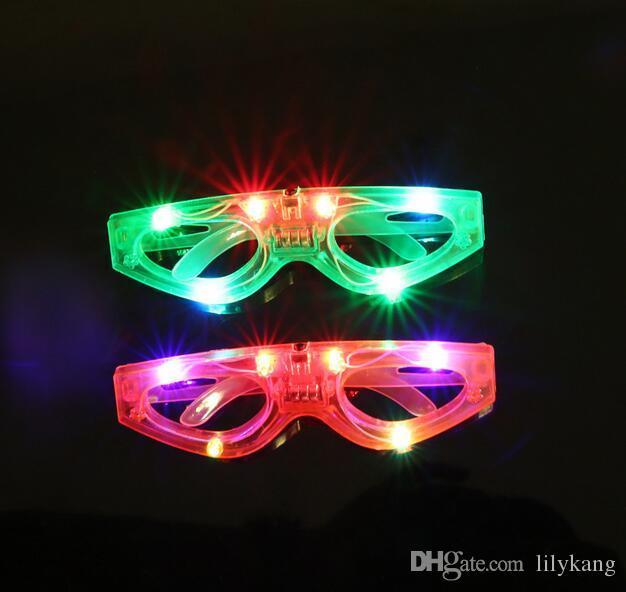 Cadılar bayramı LED maske parti gözlük çocuklar hediye oyuncak kızdırma gözlükler plastik led light up gözlük Bar Göz aşınma Gözlük