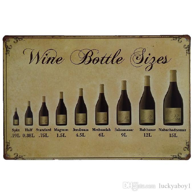 Wine Bottle Retro rustic tin metal sign Wall Decor Vintage Tin Poster Cafe Shop Bar home decor