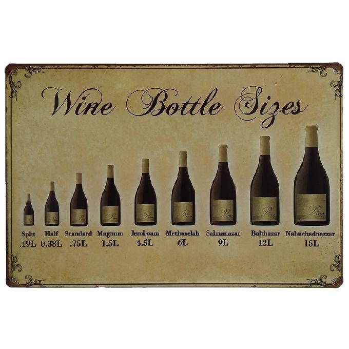 Wine Bottle Retro rustic tin metal sign Wall Decor Vintage Tin Poster Cafe Shop Bar home decor