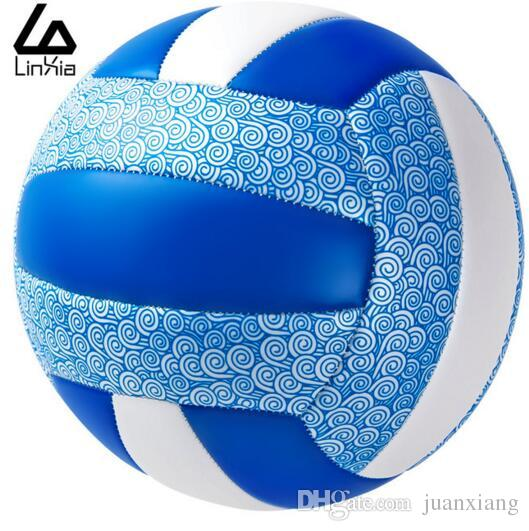 2016 Free shipping official size 5 volleyball pu volleyball match high quality indoor and outdoor training ball with a gift of the needle