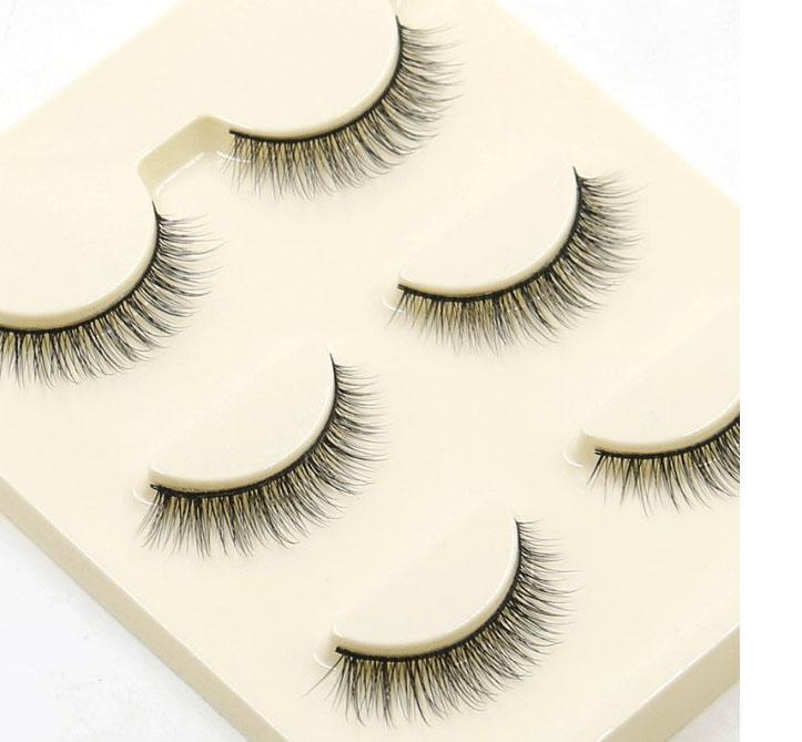 WHOLESALE Fake Eyelashes HOT SELLING NAKE DAILY MAKEUP LASHES Natural Cross Thick Curl Lash extension 3D False Eyelashes handmad