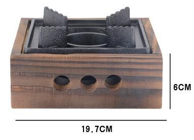 Mini Gusseisen Herd Holz Quadrat BBQ Grill charakteristischen festen kleinen heißen Topf mit Topf für Hotel Haus im Freien Picknick 034