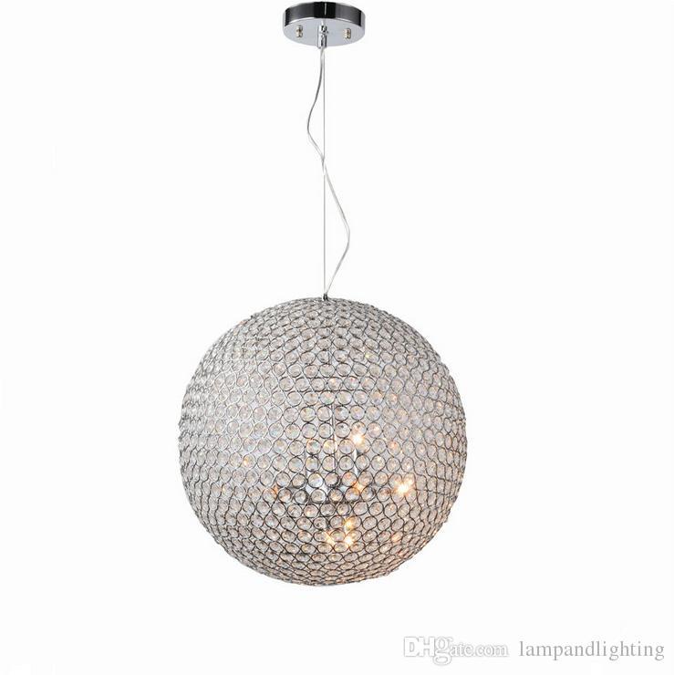 Großhandel Globe Ball Form 40cm Chrom Farbe Moderne Pendelleuchte Lichter  Zeitgenössischen Kronleuchter Für Wohnzimmer Innenbeleuchtung Von  Lampandlighting, ...
