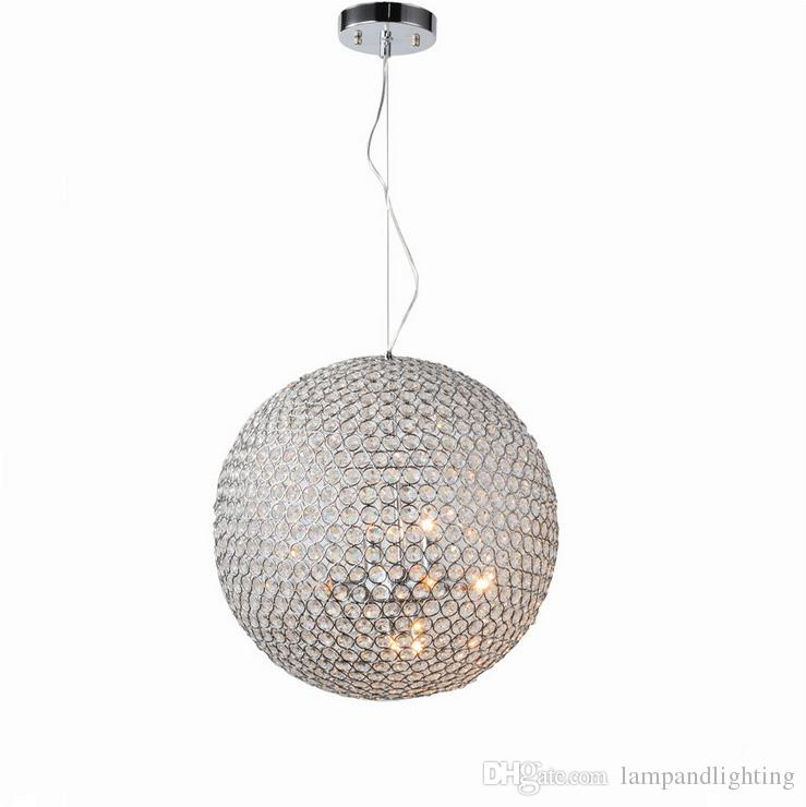 Globe ball shape 40cm chrome color modern pendant lamp lights contemporary chandelier for living room indoor lighting wall chandelier spiral chandelier from
