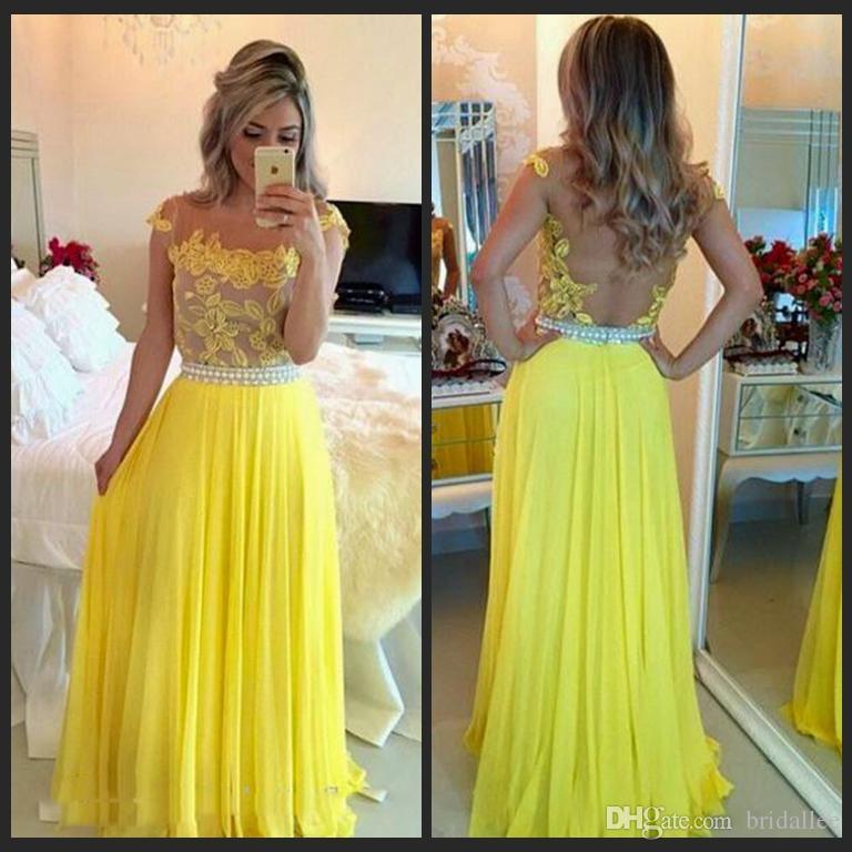 Party Dress Chiffon A Line Evening Dresses Appliques Bateau Cap Sleeve Nail bead belt Prom Gowns Sexy Back Design Plus Size Evening Gowns