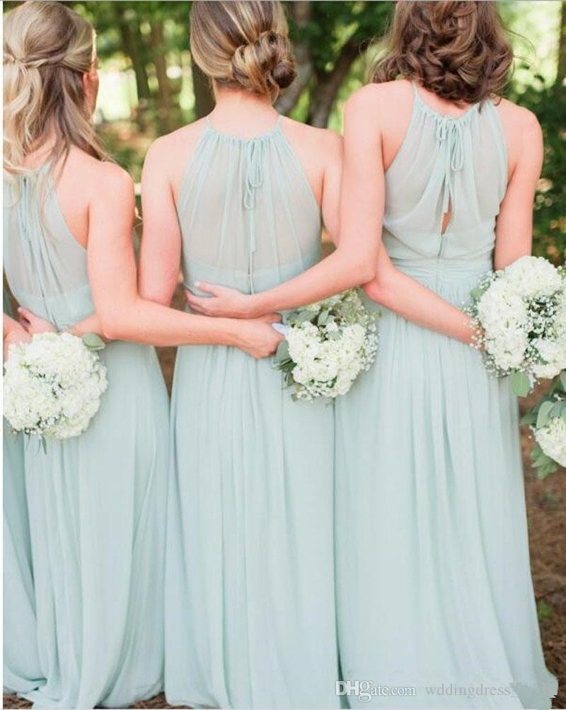 2018 summer light green bridesmaid dresses chiffon a line floor 2018 summer light green bridesmaid dresses chiffon a line floor length ruched bridesmaids dresses for wedding formal party prom gowns jr bridesmaid dress ombrellifo Gallery