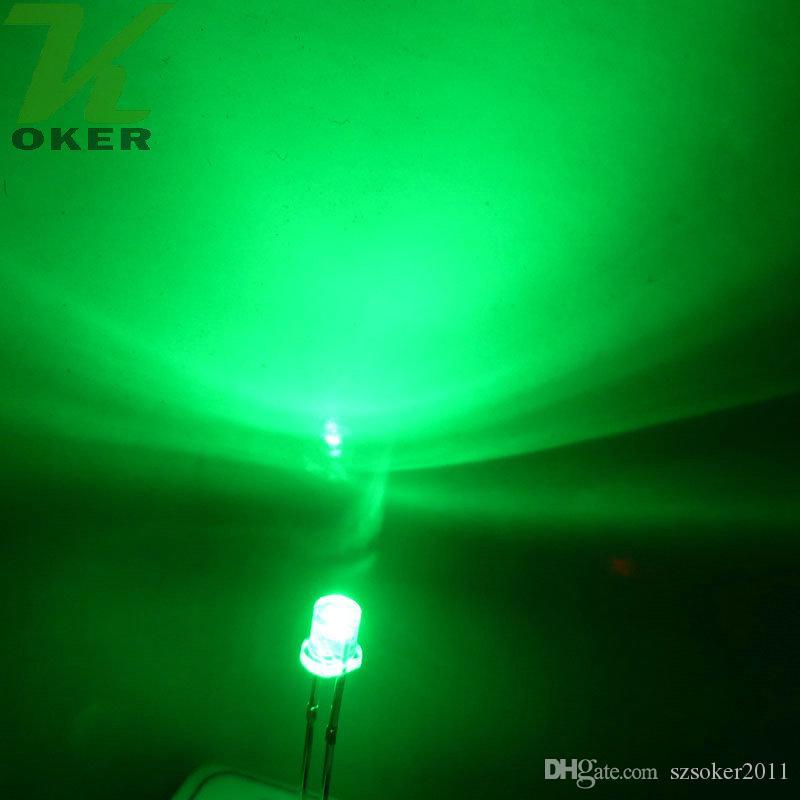 3mm Branco Vermelho Azul Verde Amarelo Flat top LED Lâmpada de Luz levou Diodos 3mm Flat Top Ultra Brilhante Grande Angular LEDs Frete Grátis