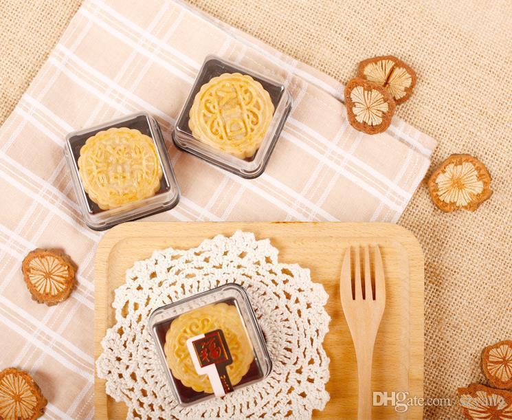 En Gros livraison gratuite, 50g plateaux de gâteau de lune plateaux d'emballage de gâteau de lune