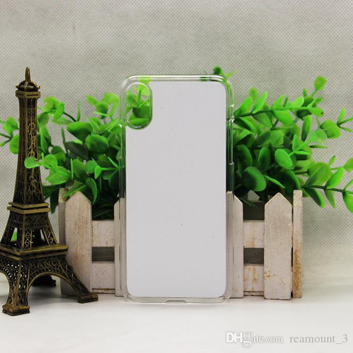 para iphone 8 caixa de borracha sublimação 3d diy silicone macio tpu + pc habitação telefone em branco para i8 com placa coque para iphone8