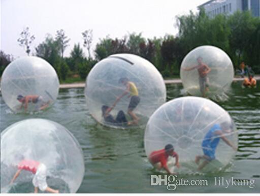 aguas bola inflable del zorb 2M bolas de agua inflable para caminar a pie de PVC bola bolas rodantes inflables bolas de baile de deporte de agua flotante