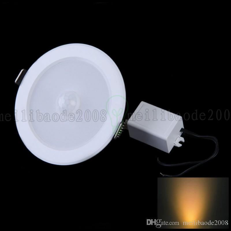5Вт Е27 датчик движения PIR 10 светодиодов SMD*SMD 5730 светодиодные потолочные свет светильник стены путь лампы LLWA216