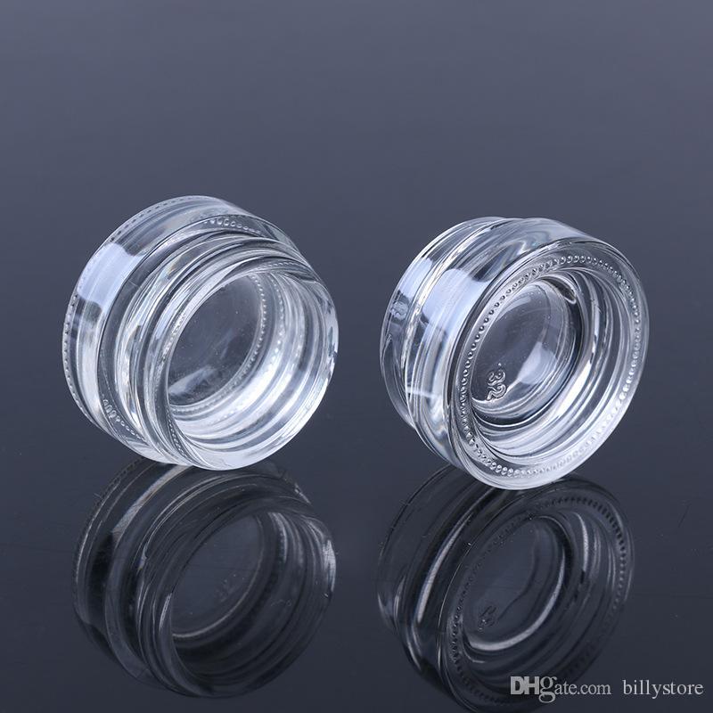Vasetto di vetro di alta qualità da 5 g con coperchio in alluminio, contenitore cosmetico a bocca larga da 5 ml, confezione cosmetica crema gli occhi