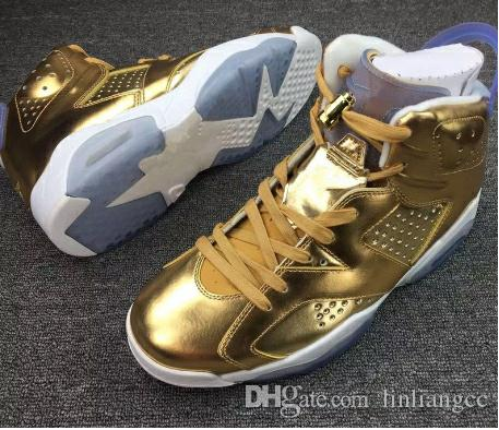 f484a54be97 Hot Sale Air Retro 6 VI Pinnacle Metallic Gold Spike Lee Men Women  Basketball Shoes Super AAA High Quality 5.5~12 Wholesale Sneakers Sports Shoes  Basketball ...