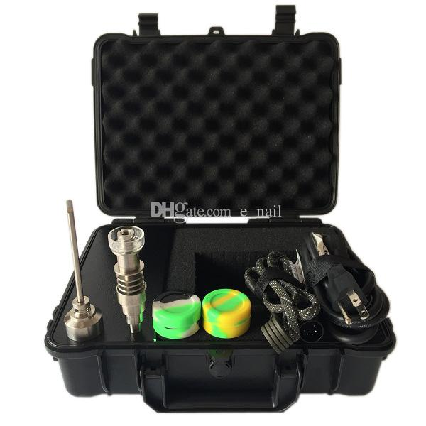 2016 New Upgrade portable Box Electronic nail Kit with 6 IN 1 Ti/Qtz hybrid nails Combustion WAX oil Electronic nail Portable
