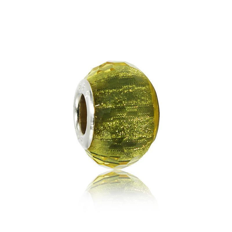 Granos de cristal de Murano hechos a mano europeos es Granos de la aleación de Murano ajuste pandora pulseras brazaletes accesorios de la joyería