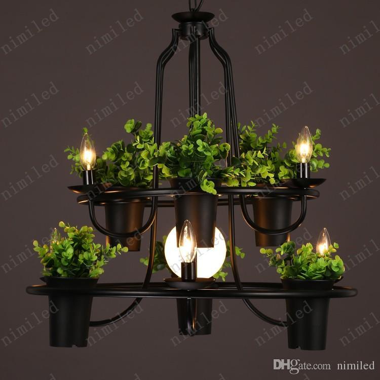 nimi1021 Personality Arts Lamp LOFT American Retro Iron Pots Candeliere Lampadario Soggiorno Vetrina Balcone Bar Lampade a sospensione