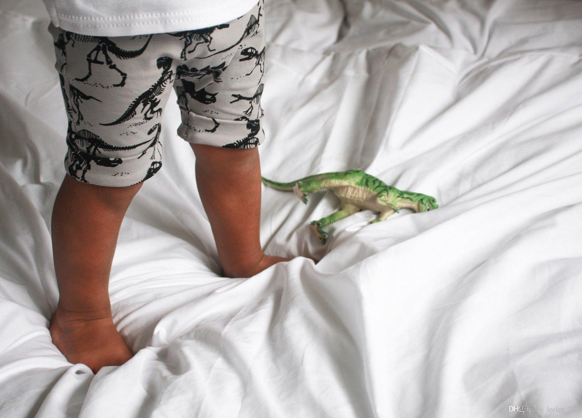 Dinosauro del cotone dei pantaloni delle ragazze dei ragazzi i vestiti della striscia dei pantaloni del Harem dei bambini 2016 nuovi vestiti di modo accettano la dimensione scelgono liberamente
