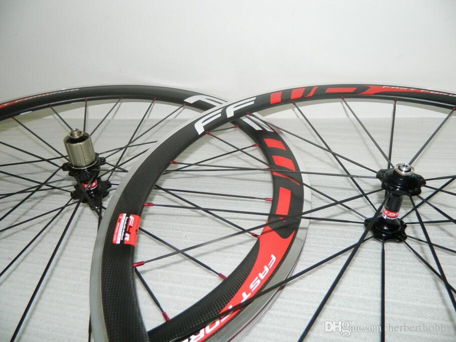 50mm FFWD Clincher Powerway R36 HubS V Brake Carbon Straight Pull Wheels Carbon Road Bicycle Wheelset