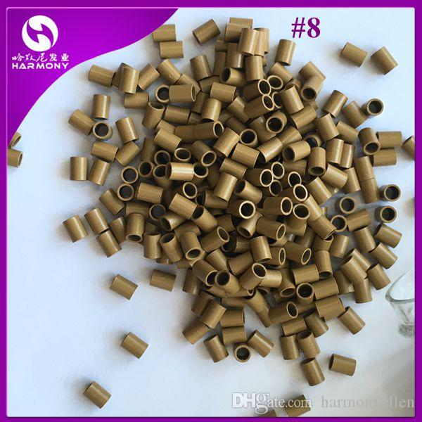 /bag,3.0mmx2.4mmx4.0mm HARMONY straight Flat end easilocks micro rings tubes non flared micro link for hair