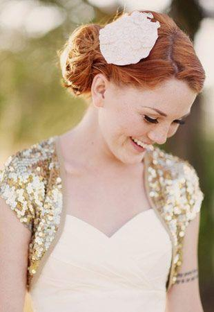 Gold Sequined Party Jackets Satin Edge Short Sleeves Wedding Boleros Bridal Shrug Party Cape Bolero Cap Sleeves Wedding Jackets Custom Made
